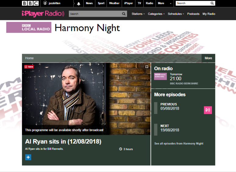 Al Ryan Harmony Night Screenshot