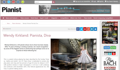 Feature in Pianist Magazine