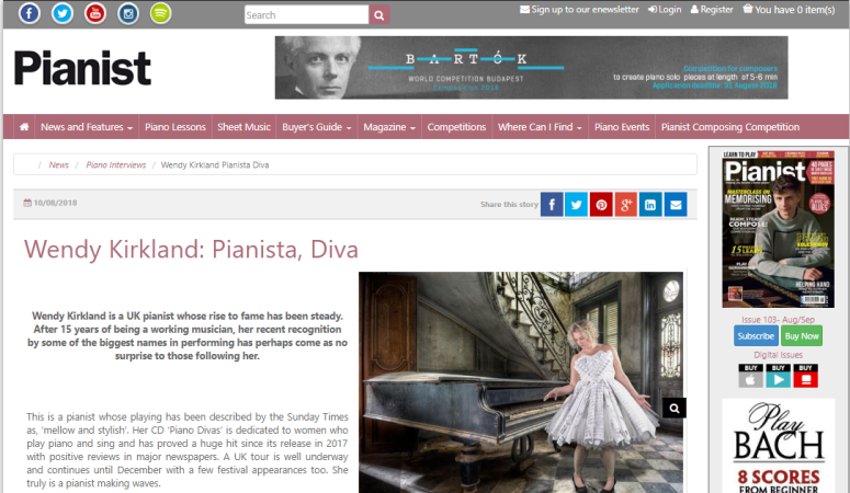 pianist magazine screenshot