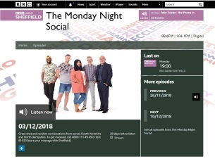 Monday Night Social live studio performance and interview with the Lord Mayor of Sheffield
