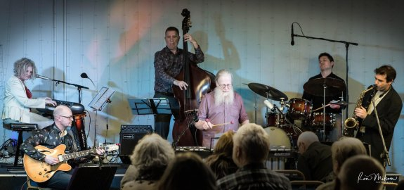 Image of sextet at Lichfield Jazz by Ron Milsom
