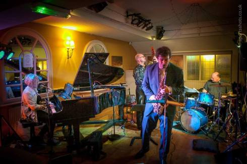 Image of Tommaso Starace with Chesterfield Jazz Club band by Mark Ludbrook